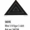 Skive Mini 1/4 figur 3-delt