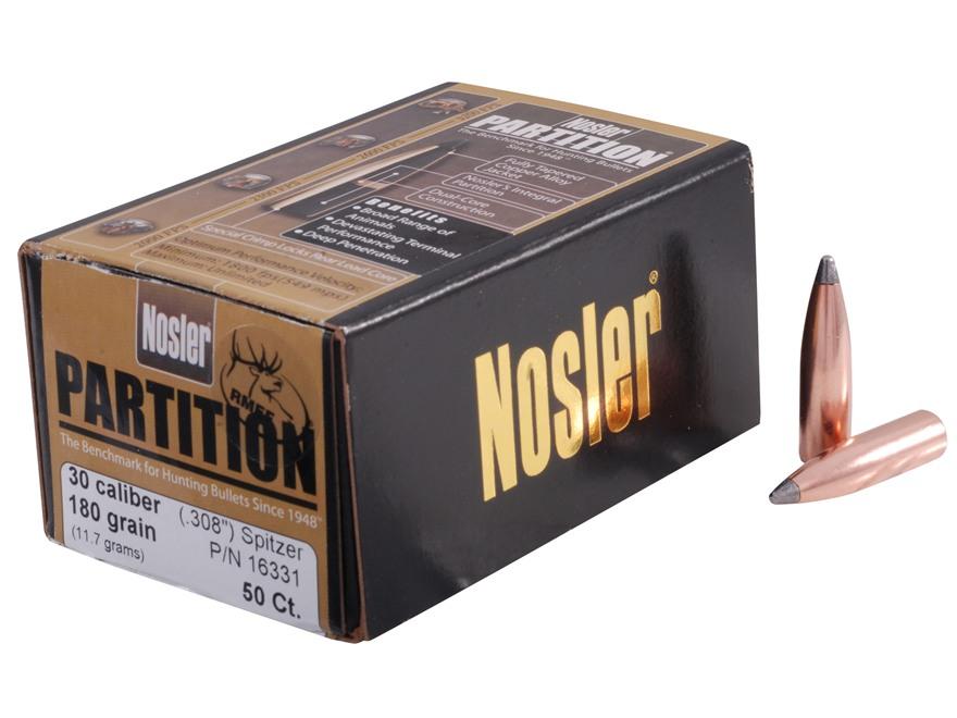 Nosler 180 grains Partition SP .30 kal. (.308), 50 pk.