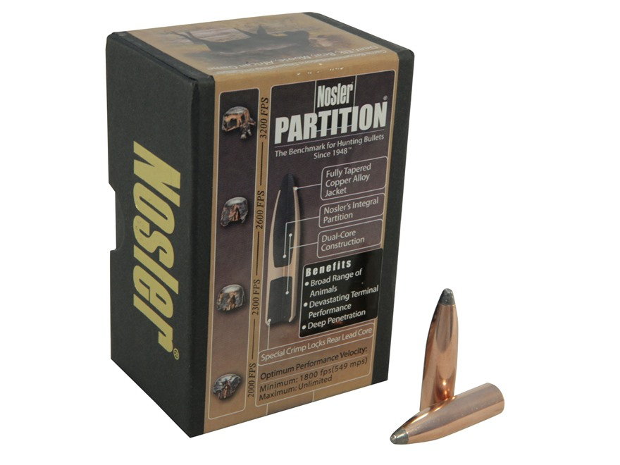Nosler 250 grains Partition SP .338 kal. (.338), 50 pk.