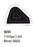 Skive 1/10 Figur 3-delt