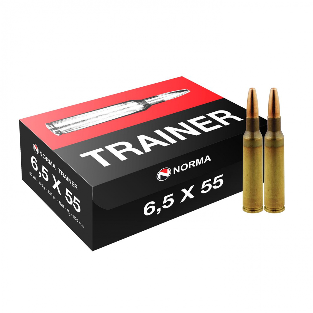 Norma 6,5x55 Swedish 8,0g / 124gr FMJ Trainer