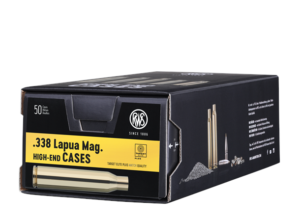 RWS .338 Lapua Magnum tomhylser
