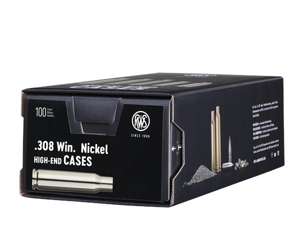 RWS .308 Winchester tomhylser, nikkel