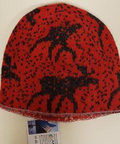 Lue foret rød med sort elg. Rød/hvit for