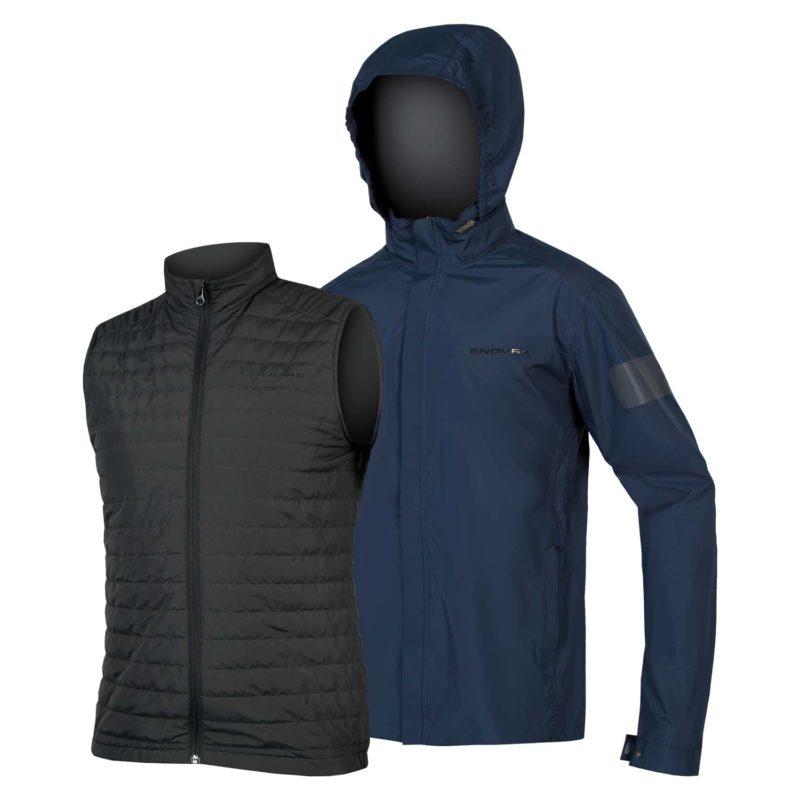 Endura Urban 3in1 Vanntett jakke m/primaloft vest