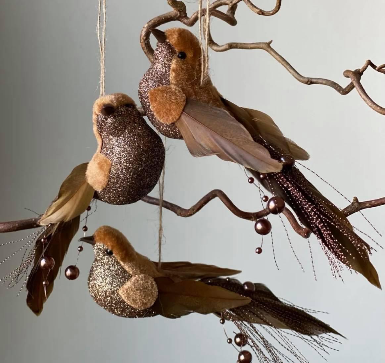 Gullfugl med Perler