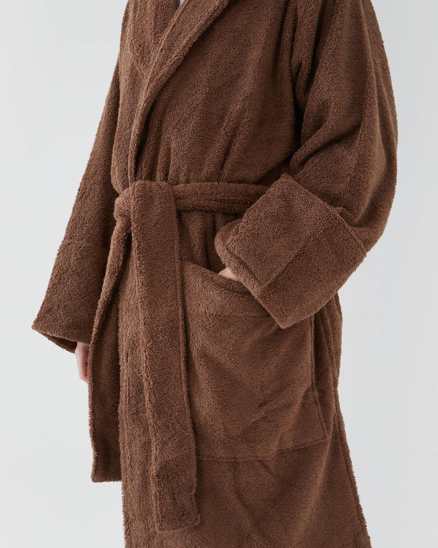 Tekla, Hooded Bathrobe Kodiak Brown