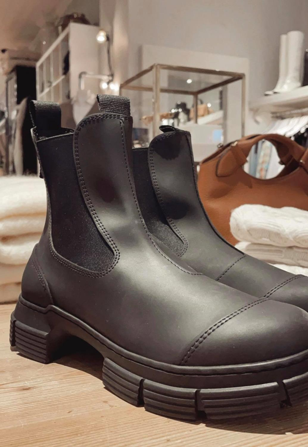 Ganni, Recyceled Ankel Rubber Boots
