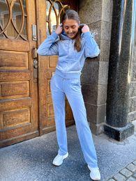 Juicy Couture, Classic Pant Della Robia Blue