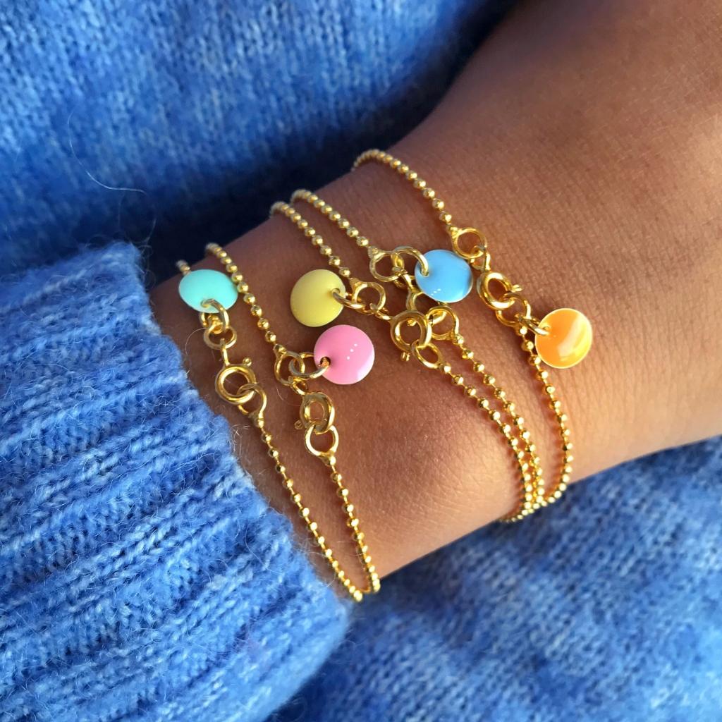 Enamel, Ball chain bracelet