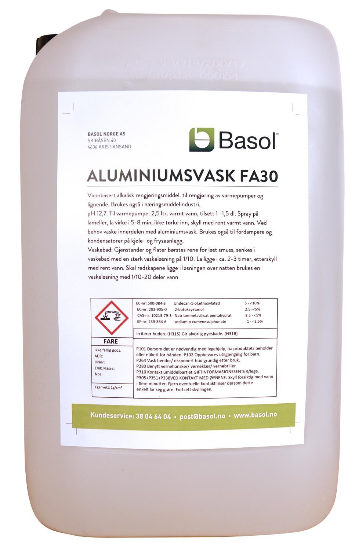 ALUMINIUMSVASK ( FA30 ) 25 LTR