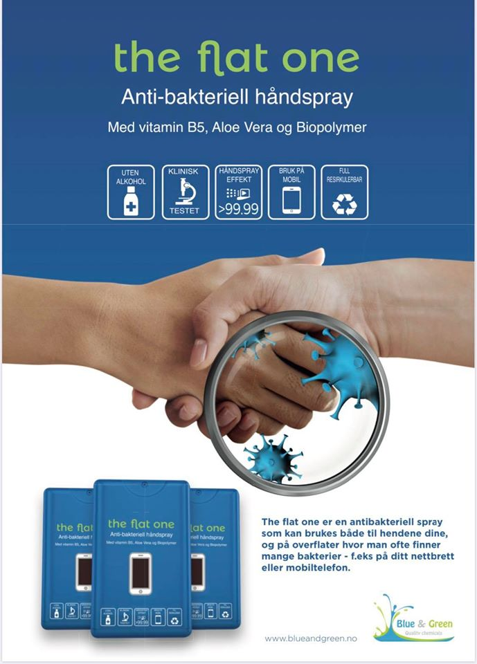 Antibacteriel Handspray The Flat One 20 ml