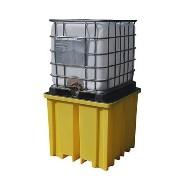 Miljøpall i plast 1xIBC, 1230x1230x1090mm (1150 ltr.)