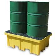 Miljøpall i plast for 2 fat (230 ltr.)