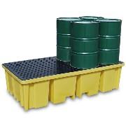 Miljøpall i plast for 8 fat (1150 ltr.)