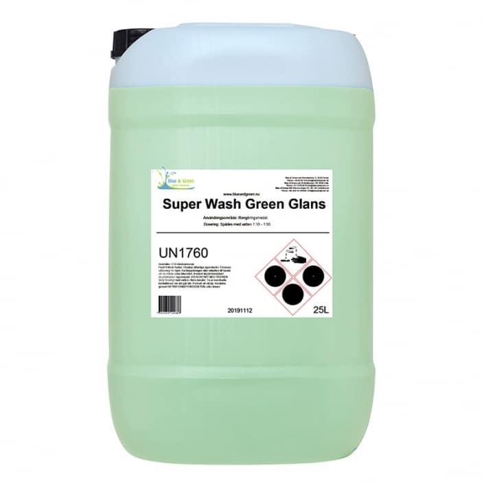 SUPER WASH GREEN GLANS, 25 LTR