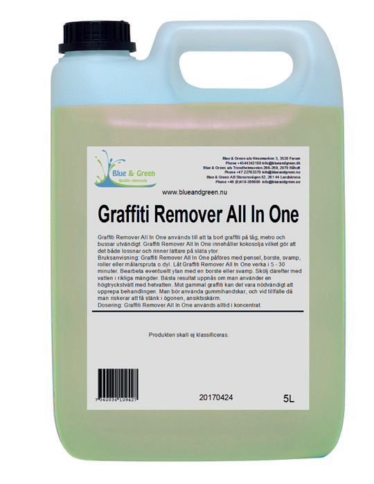 GRAFFITI REMOWER ALL IN ONE 5LTR.
