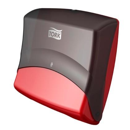 Tork Dispenser Top-Pak, Rød/Sort W4