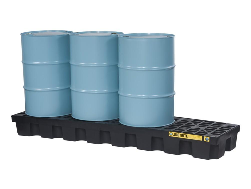Miljøpall i plast for 4 fat (Mål: 2464x635x229)