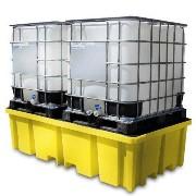 Miljøpall i plast 2xIBC, 2340x1225x610mm (1150 ltr.)