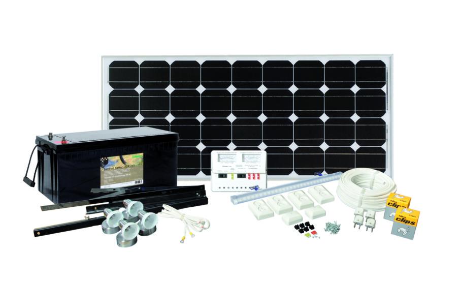 Solcellepakke Max Power 100W