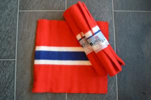 Tinde Sitteunderlag Norsk Flagg 100% Ull