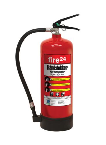 Brannslukker 6 kg Pulver ABC (34A,183B,C)