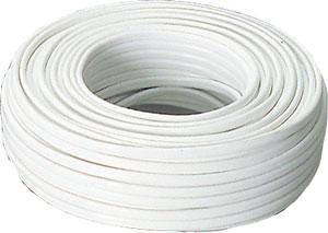 Kabel 2x2,5mm2 a hvit, per meter