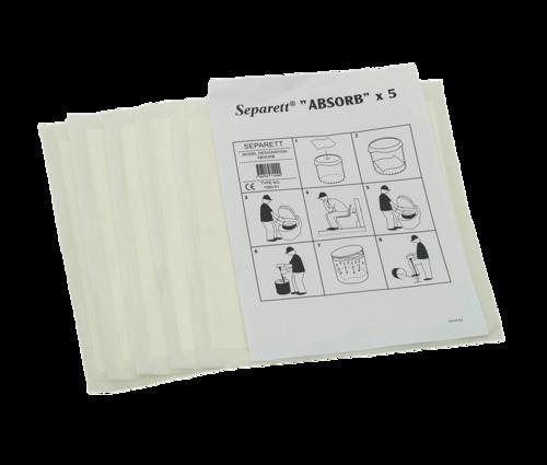 Absorb for Separett - 5stk.