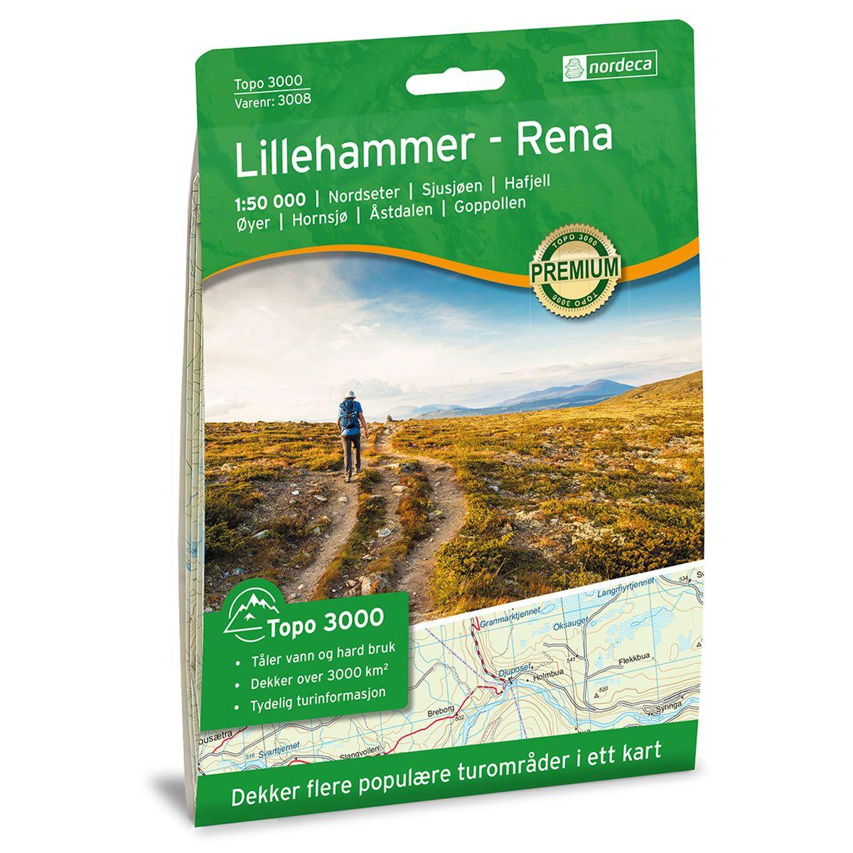Turkart Lillehammer - Rena 1:50000