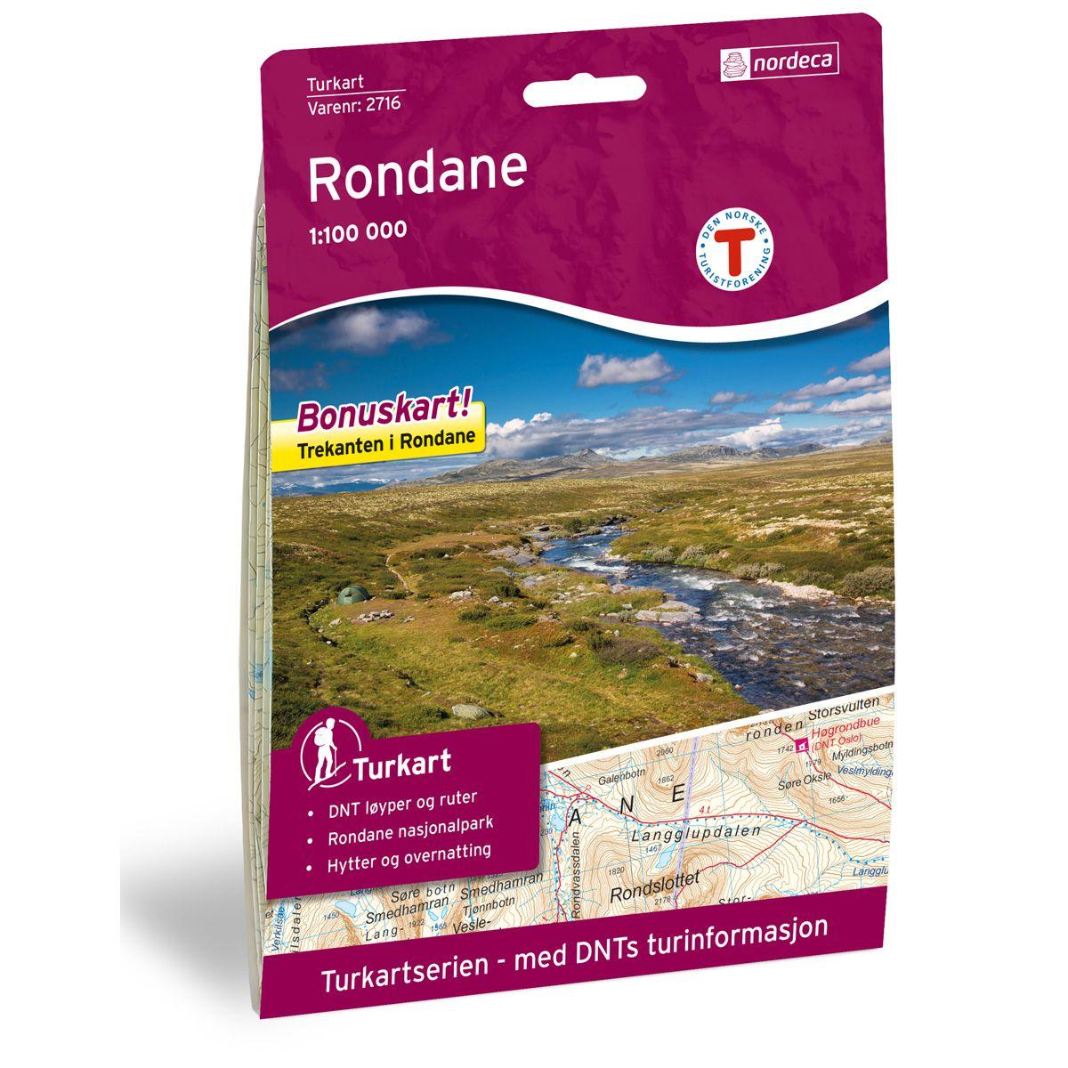 Turkart Rondane Dnt 1:100000