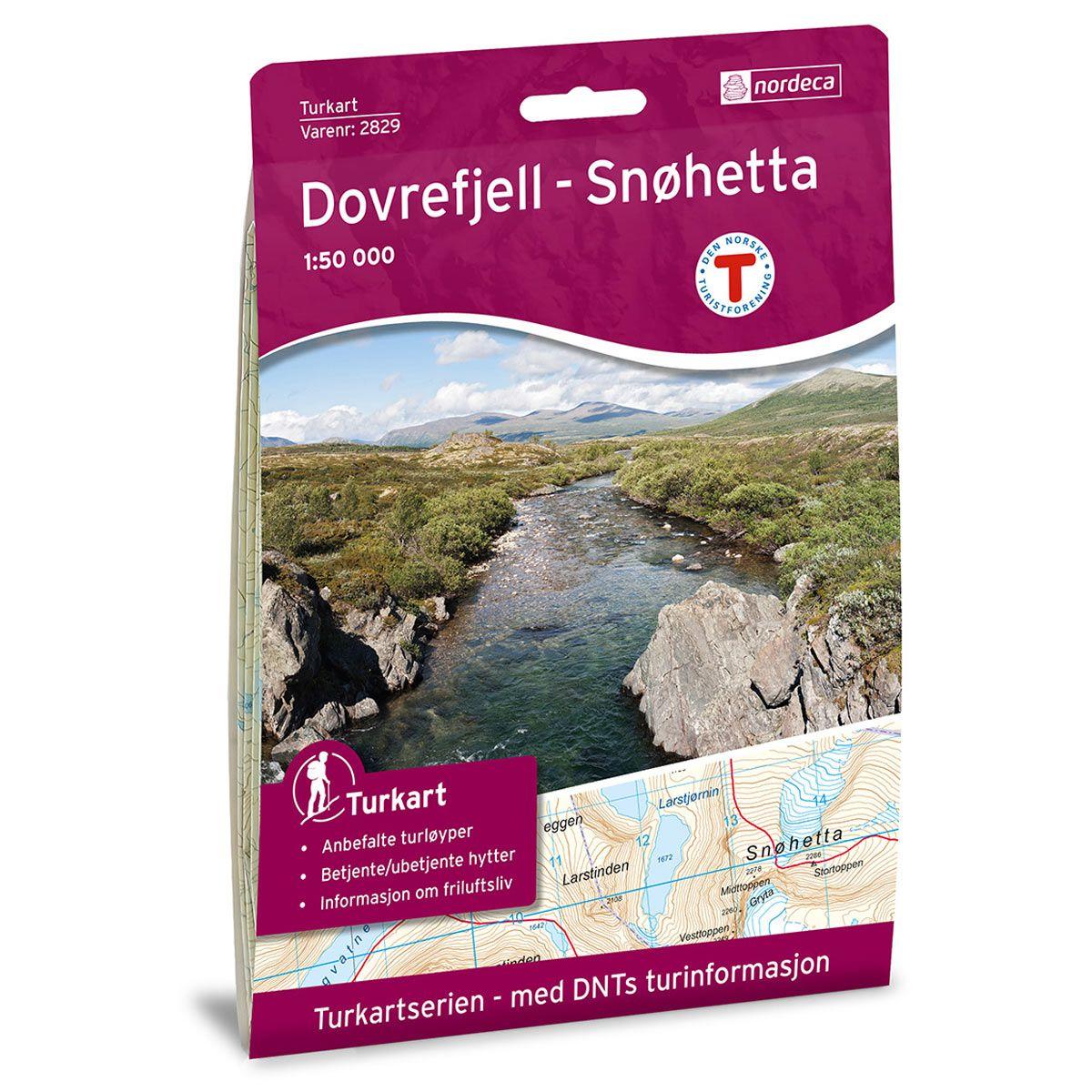 Turkart Dovrefjell - Snøhetta Dnt 1:50000