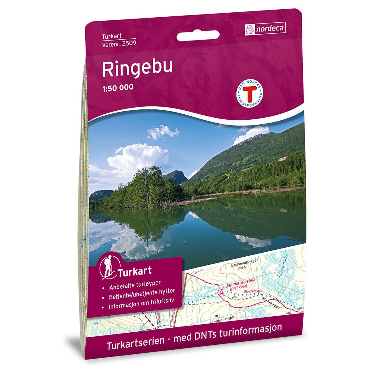 Turkart Ringebu - Trollløypa Dnt 1:100000