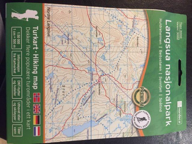 Turkart Langsua Nasjonalpark 1:50000