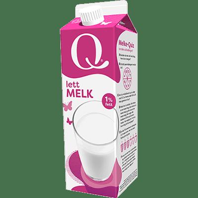 Q Lettmelk 1 liter