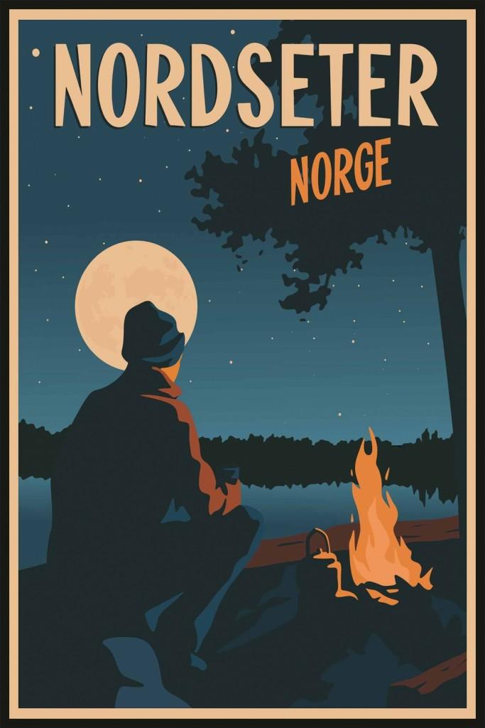 "Plakat ""Nordseter"" 50x70cm"