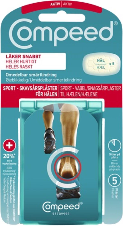 Compeed Sport Gnagsårplaster Hæl 5 stk