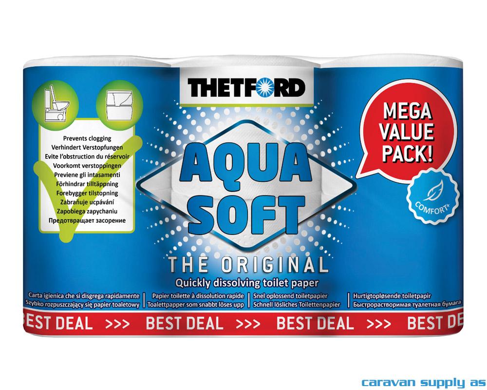 Thetford Aqua Soft Toalettpapir 6 rl.