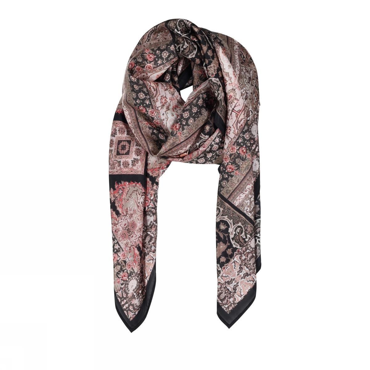 Gustav Allis printed silk scarf