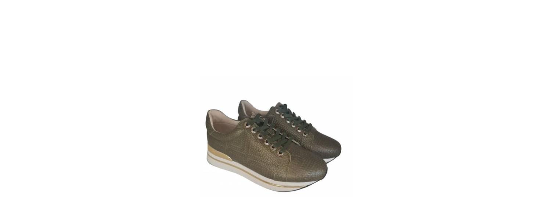 Bibba grønn mønstret sneakers m/ gull