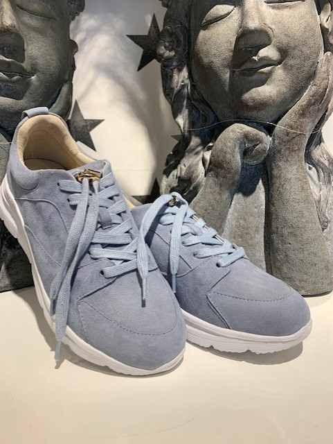 Bibba lyseblå smsk sneakers med stener