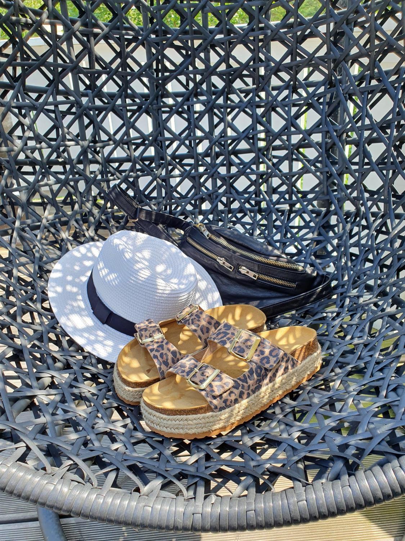 Sandal FOREVER med leopardmønster