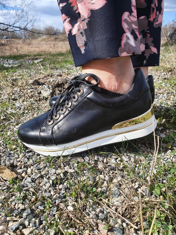 Bibba sort sneakers m/ gull