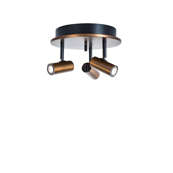 Belid Cato Trispott Rund LED Dimbar - Oxid/Kobber