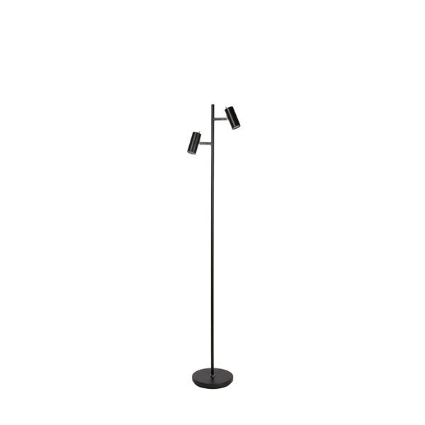 Belid Cato Gulv Dobbel LED - Matt svart