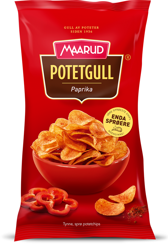 Maarud Paprika Potetgull