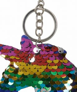 Sequin Nøkkelring Regnbue