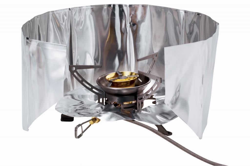 Windscreen and heat reflector set