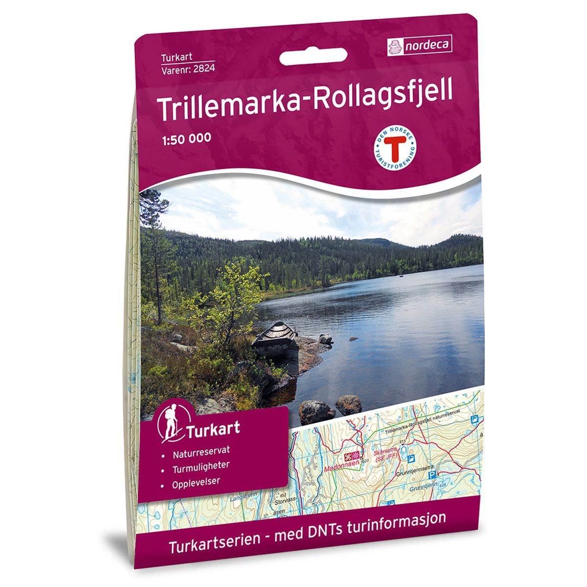 TRILLEMARKA-ROLLAGSFJELL 1:50 000