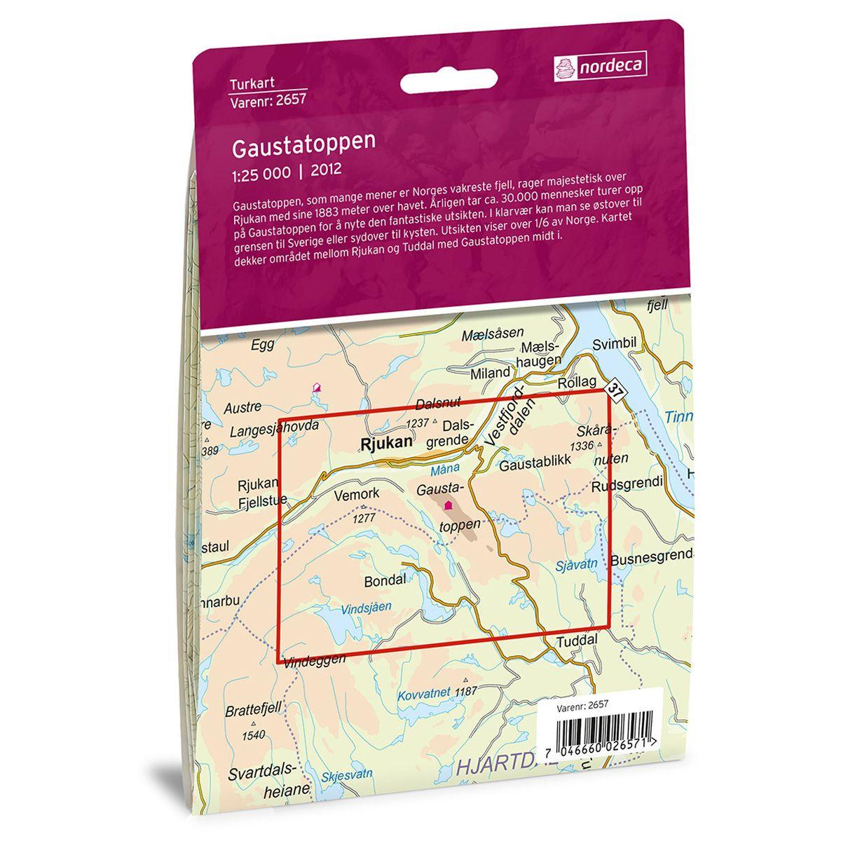 Kart Gaustatoppen